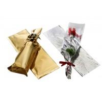 גליונות צלופן מטאלי דו צדדי - זהב / כסף