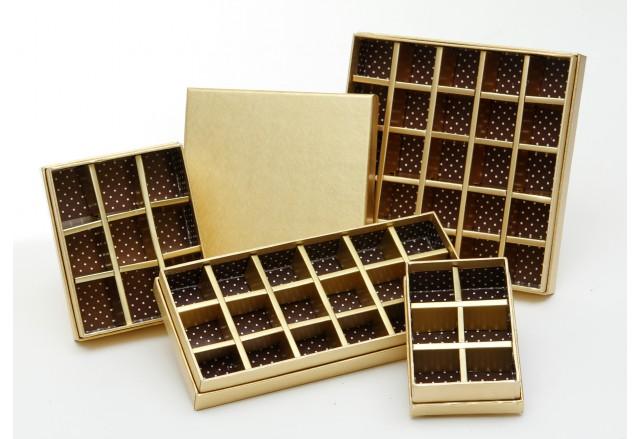קופסאות מחולקות לפרלינים / שוקולד
