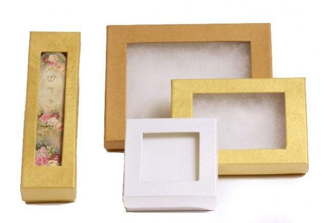 קופסאות מתנה 2 חלקים + חלון