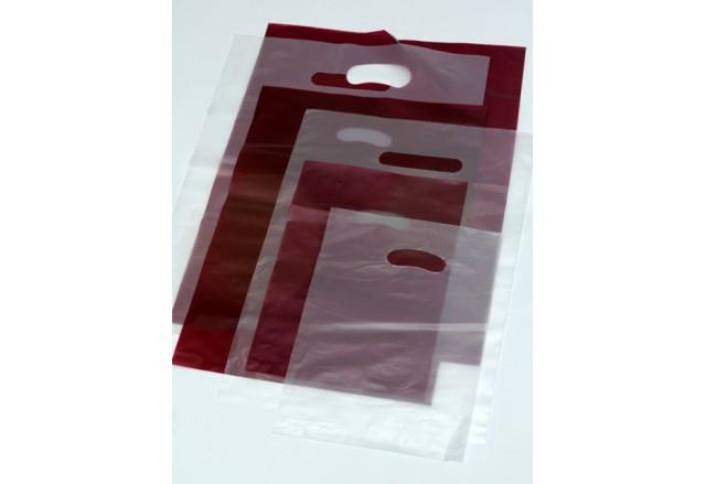 שקיות פלסטיק דליה חלקות בורדו / אופווייט אטום / שקוף מט - מבצע מיוחד !