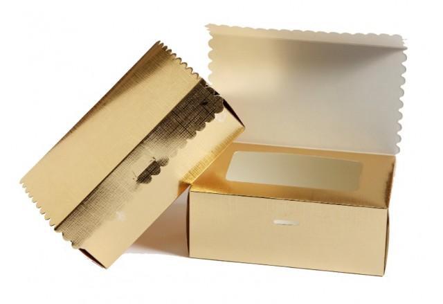 """קופסא עם מכסה ציר וחלון פנימי פתוח 15.5X9 גובה 6 ס""""מ"""
