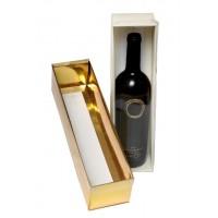 קופסא 2 חלקים לעוגה / בקבוק יין מכסה שקוף