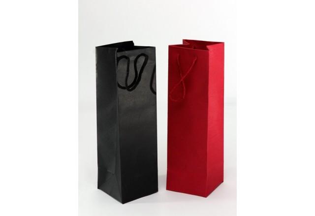 שקית קרטון יוקרתית ליין - שחור או אדום