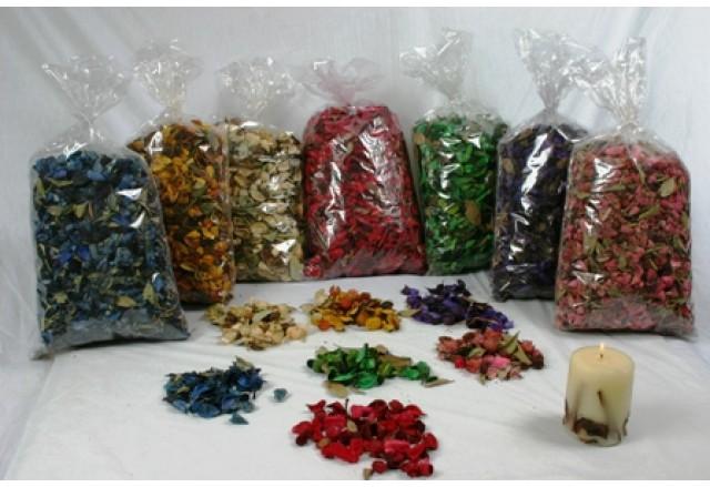 פוטפורי - עלים טבעיים או צבעוניים