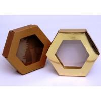 קופסת קרטון משושה + חלון - 2 חלקים