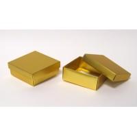 """קופסאות 2 חלקים מתקפלות 9/9 גובה 4 ס""""מ זהב מט - מוזל !!!"""