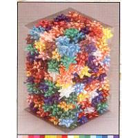 סרטי פרח נדבקים במגוון גדלים וצבעים