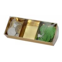 קופסת קרטון מחולקת 3 תאים - מכסה שקוף