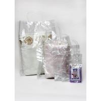 שקיות נשיאה PVC שקופה - ידית עגולה + סגירת תיק תק